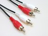 2,5 m Cinch-Kabel; RCA-Kabel; Audio Anschlusskabel; 2xCinch-Stecker HiFi Stereo